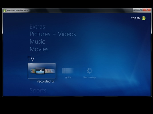 Record TV with Windows Media Center