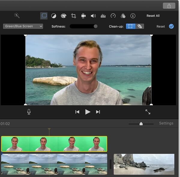 remove background from video imovie