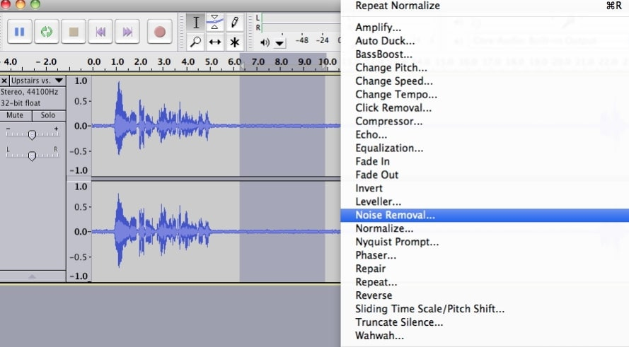 remove background noise audacity