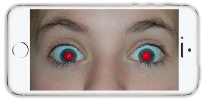 red eye photo