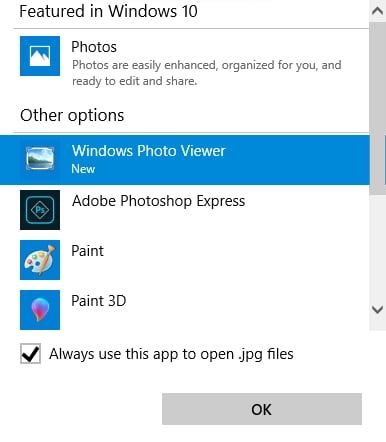 restore windows photo viewer