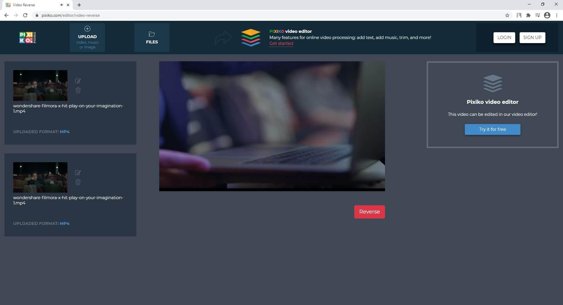 Reverse YouTube-Videos online rückwärts abspielen - Pixiko