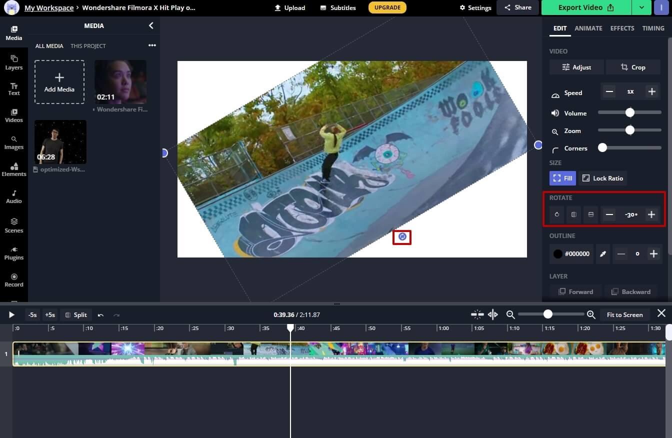 online video rotator - kapwing