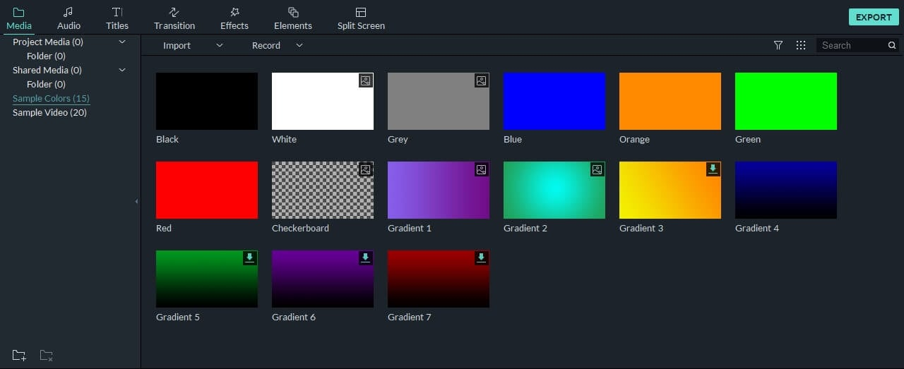use sample colors as intro background