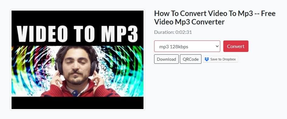 Save converted video