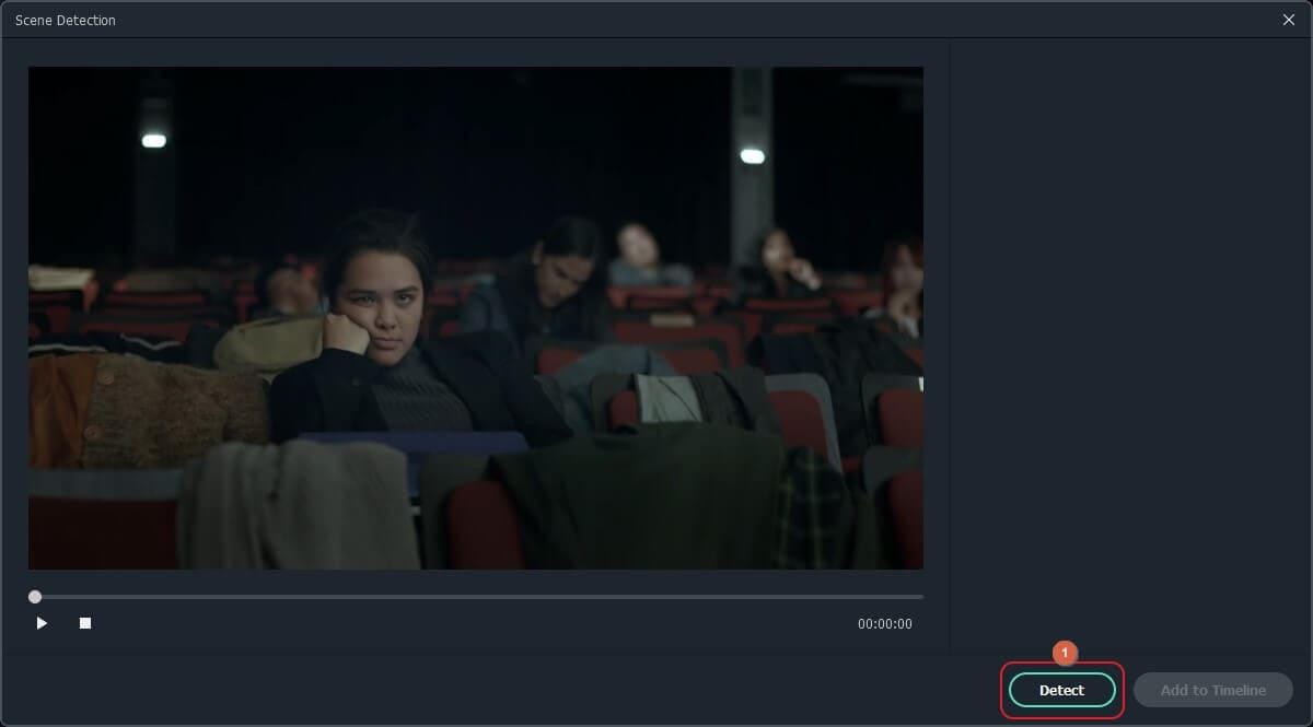 scene detection interface