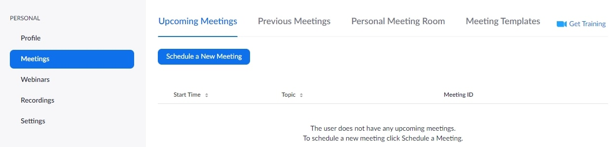 Schedule Zoom Meetings in Web