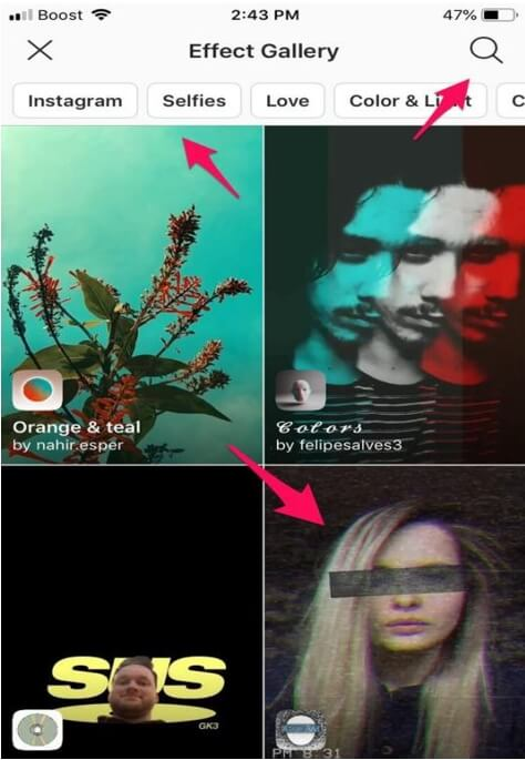 Find Instagram Filter - search filters and effects