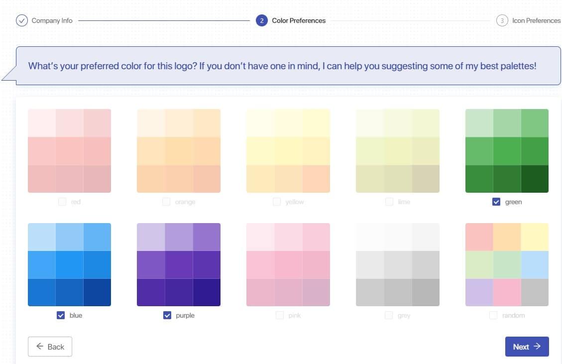 Discord Logo Maker - Logo Bot - select color