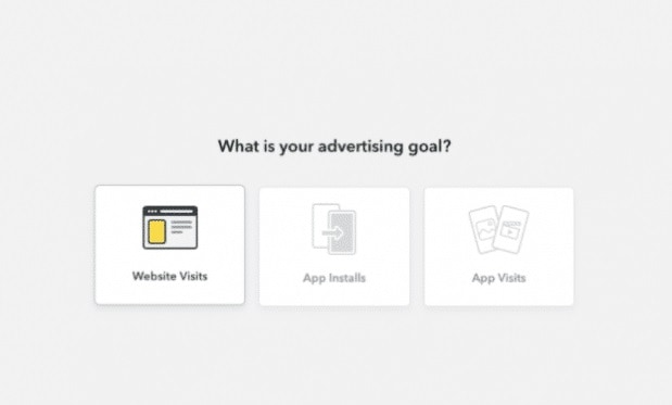 Select Goal Of Creating Snapchat Ad