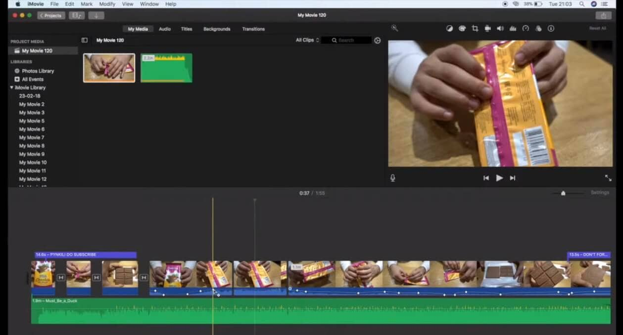 select-video-imovie-keyframing