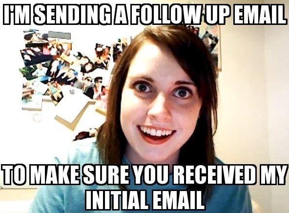Estoy enviando un correo electrónico de seguimiento