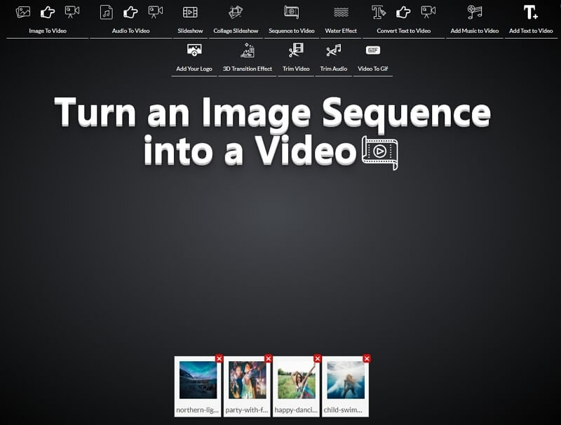 turn sequence image to video