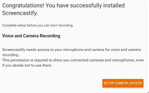 Set up the voice and camera