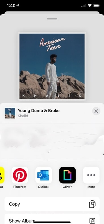 Share Apple Music to Instagram Story