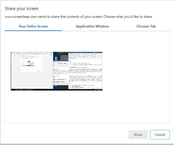 Condivisione schermo in ScreenLeap