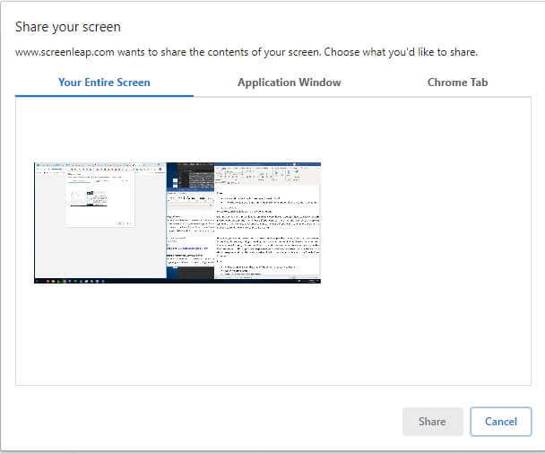Screen Sharing in ScreenLeap