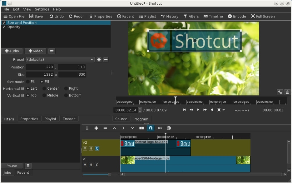 Editing videos in iMovie Alternative Shotcut