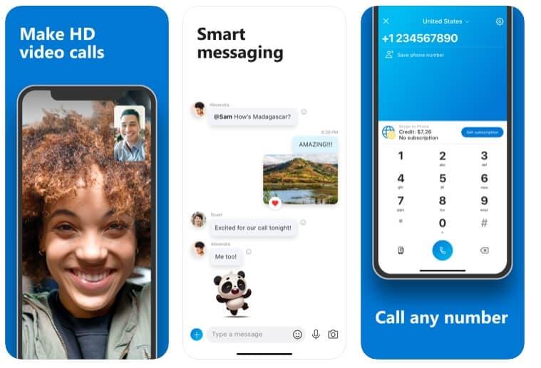 Alternativa FaceTime: Skype para iPhone