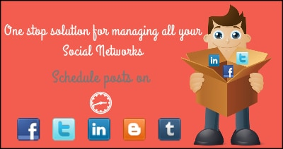 drumup how to schedule posts on linkedin