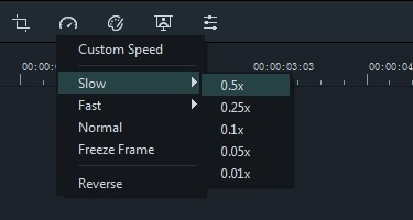 Filmora9 change speed