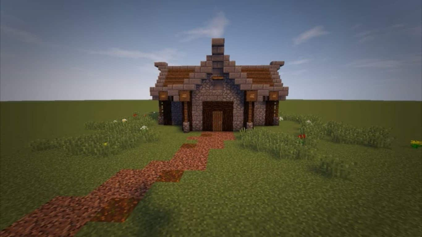 small-medieval-house-poster