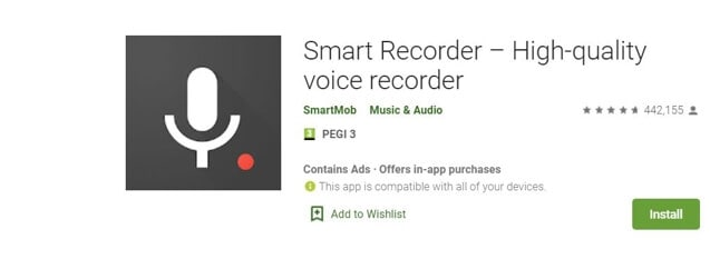 Vocie Recorder App for Android - Smart Recorder – High-quality voice recorder
