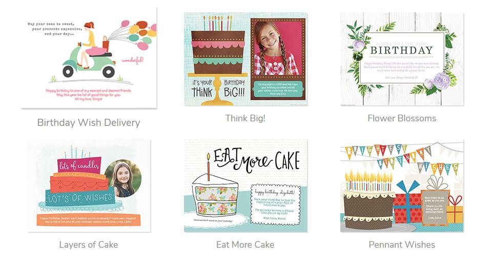 Smilebox online birthday card maker
