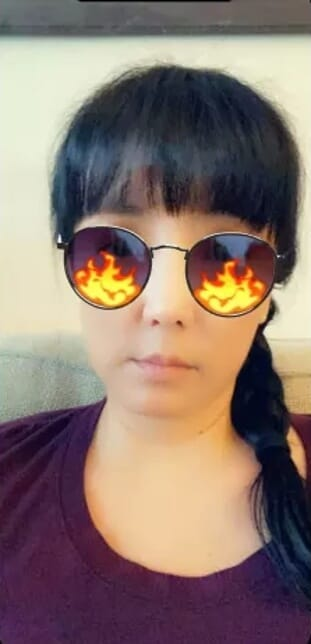 Most popular Snapchat filters - Fire Sunglasses