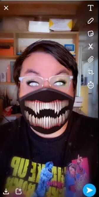 Most popular Snapchat filters - Scary Mask