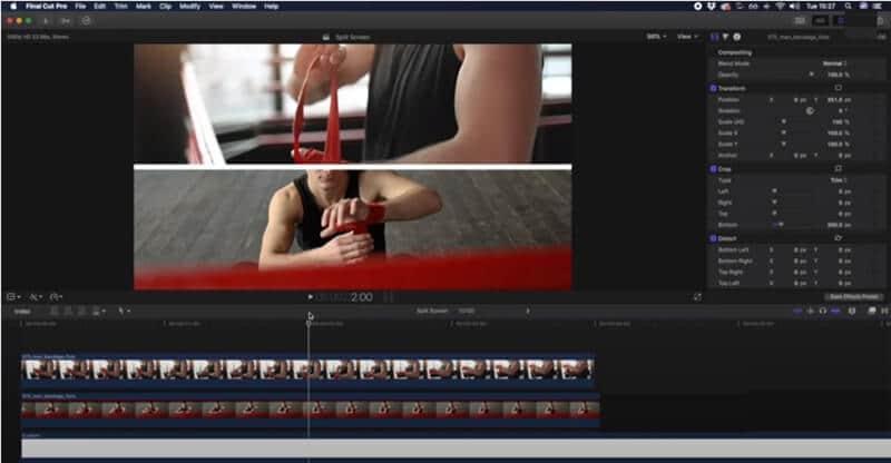split screen final cut pro further video editing