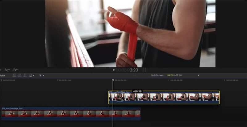 split screen final cut pro place videos on order