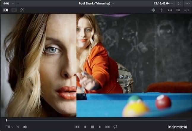 split screen using gallery