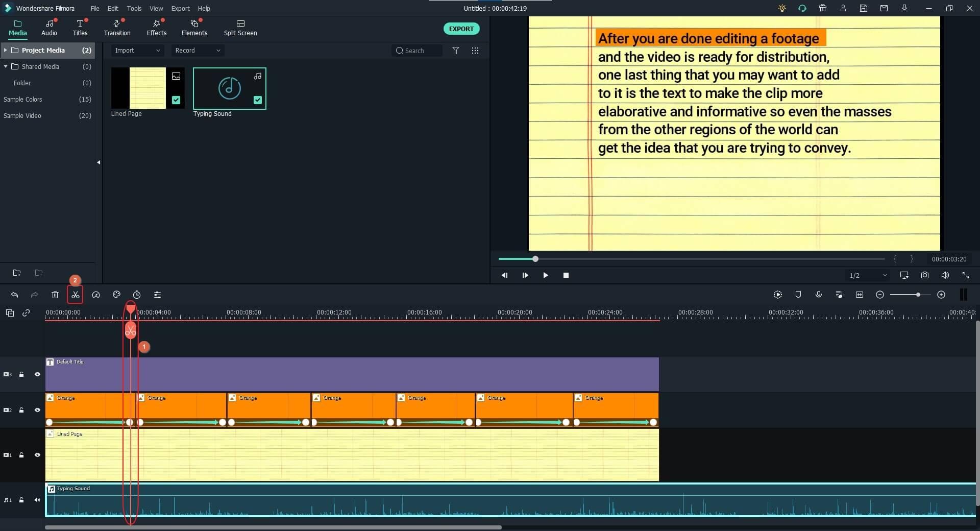 split  typing sound effects