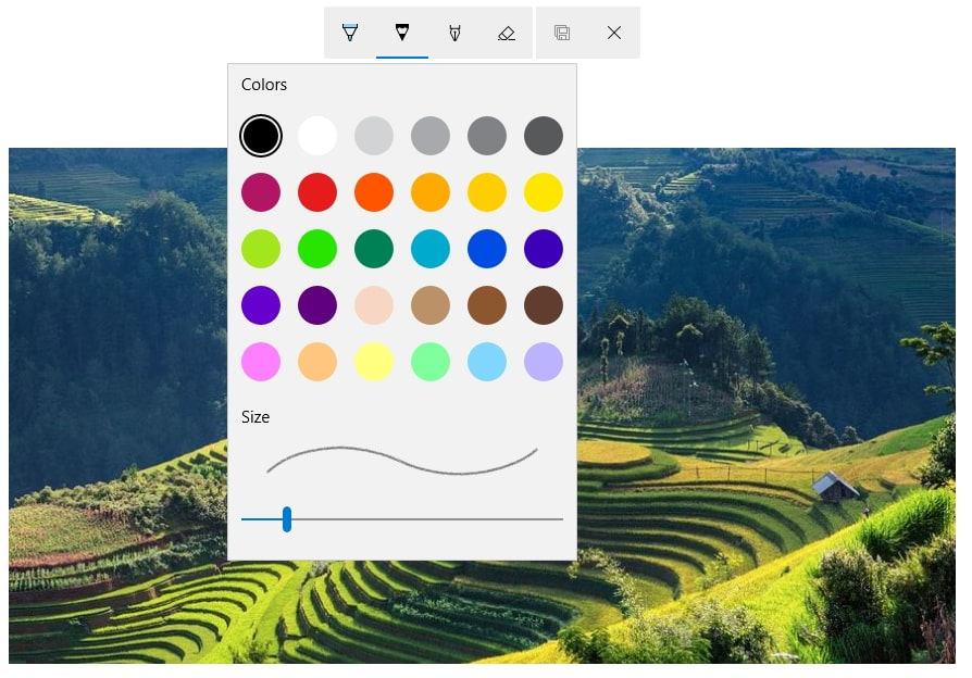 draw on photos in windows 10