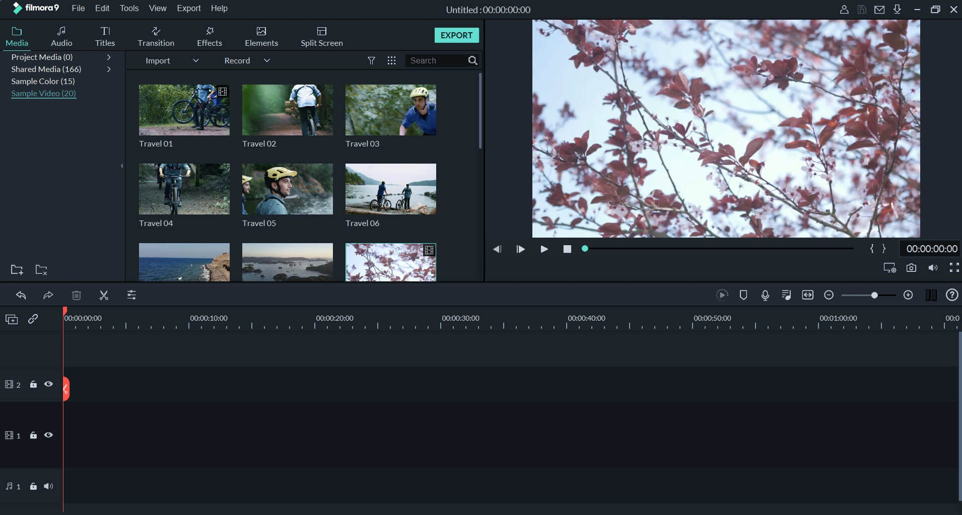 Edição de vídeo do Filmora 9 4K