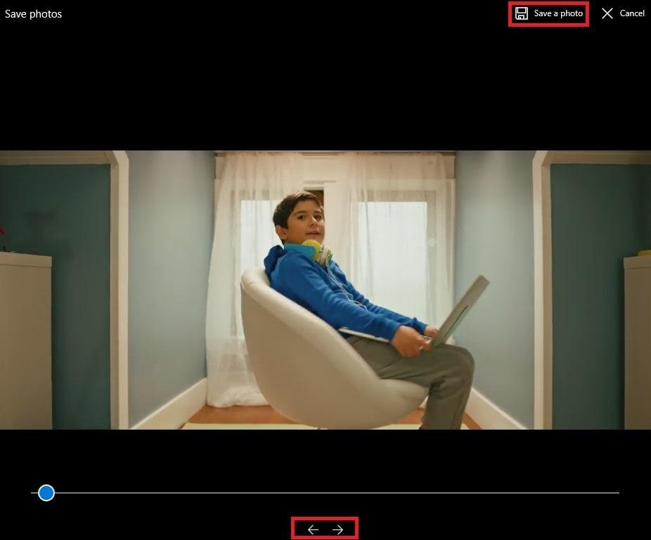 catturare immagini da video con foto di windows 10