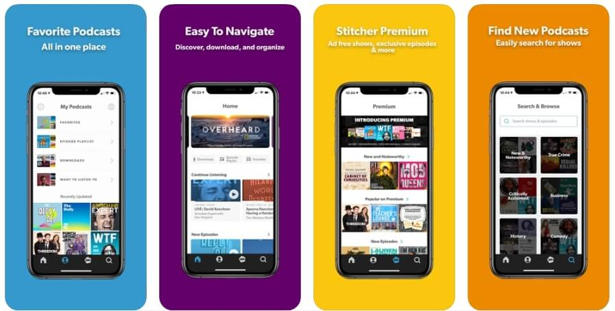 Best Podcast Player App - Stitcher