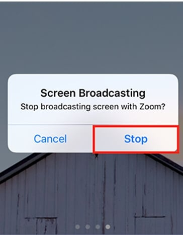 Stop Broadcast iPhone with Zoom