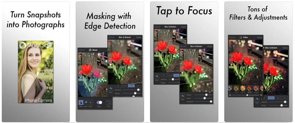 add bokeh effects with Tadaa SLR app