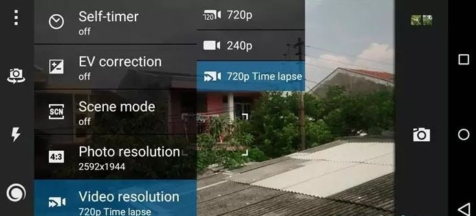 toma video de time lapse