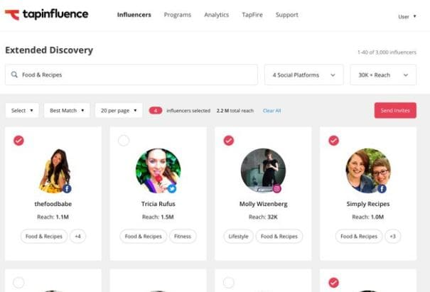 tapinfluence plataforma de influencer marketing