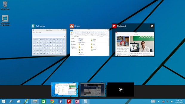 Das virtuelle Desktop-Feature von Windows 10