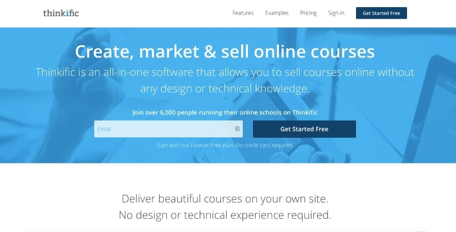 Course Creation Software Thinkific Free No Survey