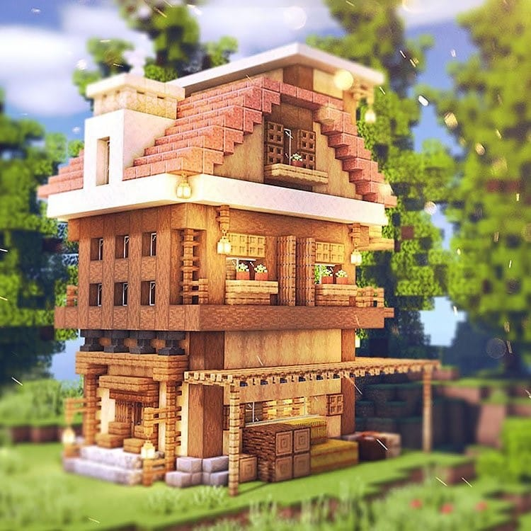 three-story-wooden-house-poster