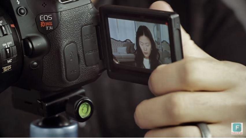 tilt down your camera
