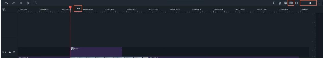 Zoom de línea de tiempo de Filmora9