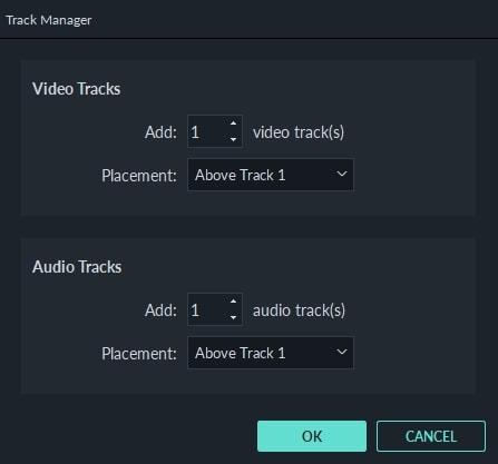 Filmora9 Track Manager