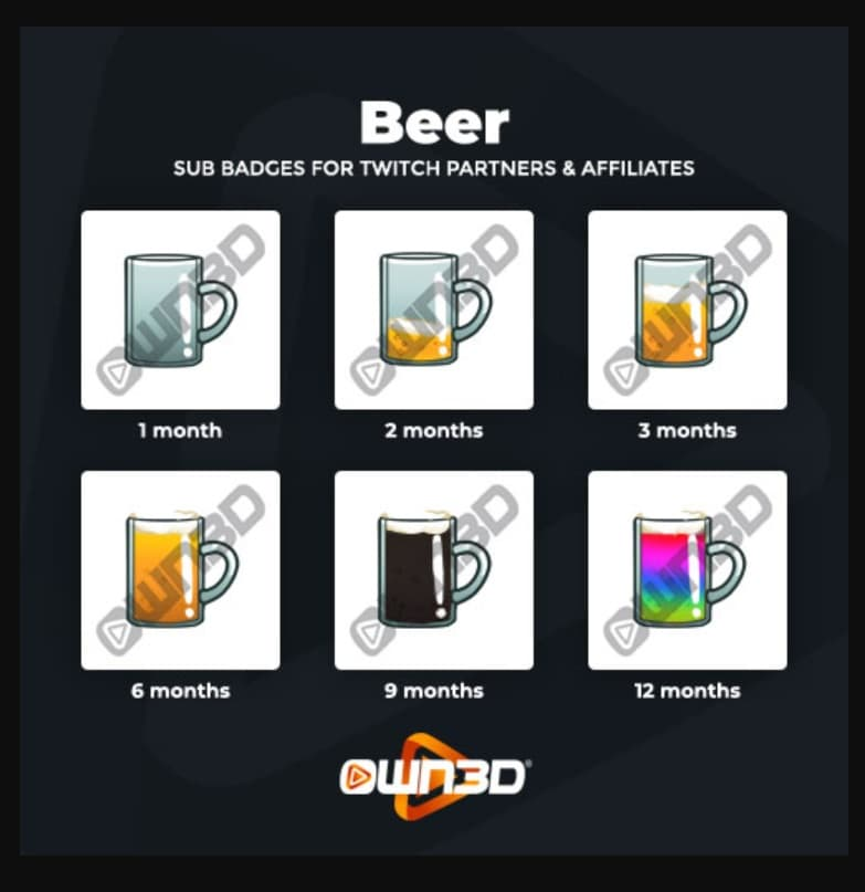 Twitch Sub Badges Beer