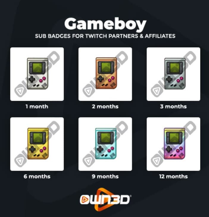 Twitch Sub Badges Gameboy